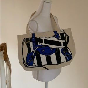 """Mint  """"My Other Bag"""" canvas tote"""